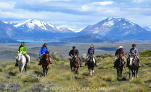 Horseback riders in Patagonia