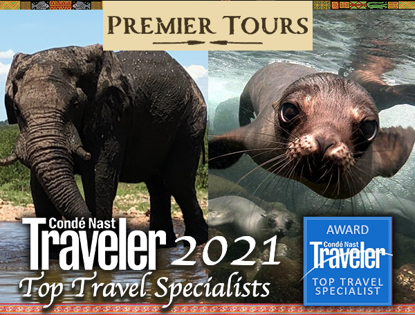 Premier Tours is on the coveted Conde Nast Traveler Top Travel Specialists list for 2021!